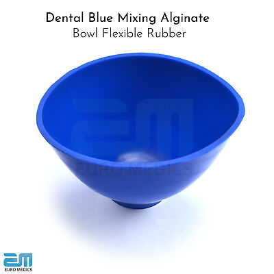 Dental Blue Mixing Alginate Bowl Large Size, Flexible Rubber Mixing For Plaster