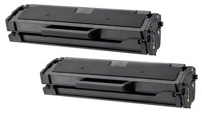 2PK MLT-D101S New Black Laser Toner Cartridge for Samsung SCX-3405, ML-2164