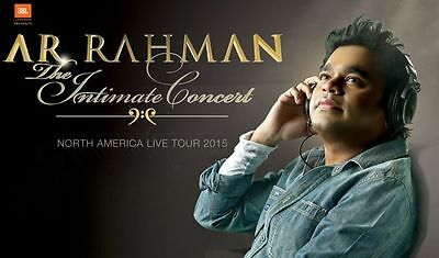 Intimate Concert in Toronto,ON  A R Rahman  May 25,2015