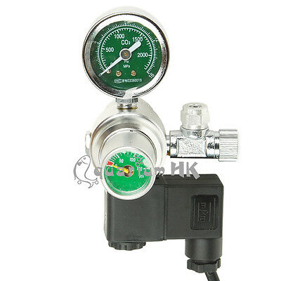 Aquarium Regulator Gauge Solenoid Magnetic Valve for CO2 Cylinder HSL PRO-03