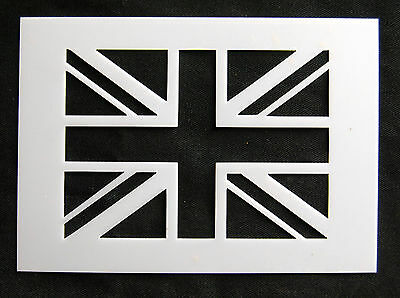Reusable Union Jack Airbrush Painting Stencil for Sign Wall Floor Pavement Crate