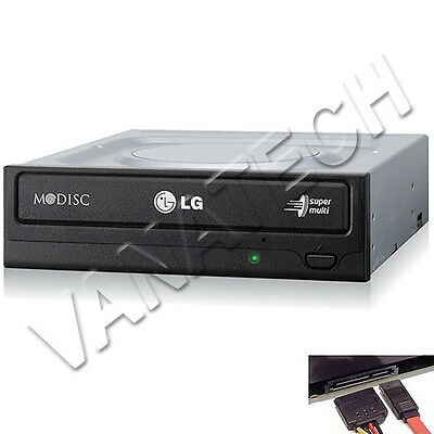 Masterizzatore Lg Interno Per Pc Sata Gh24Nsd1 Dual Layer Cd Dvd Nero Bulk Gls