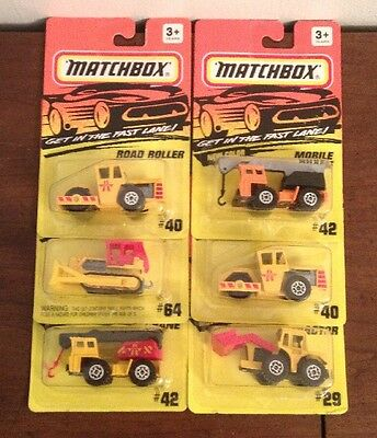 LOT OF 6 NICE MATCHBOX COLLECTIBLES MIB Construction VEHICLES