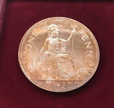 *RARE*Wonderful 47th Birthday or Anniversary BRITISH PROOF 1970 PENNY STUNNING