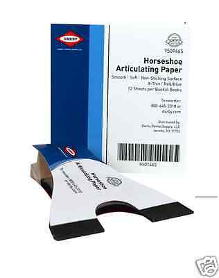 Dental Horseshoe Articulating Paper 72 Blue/Red Sheets - SuperDent #9501465