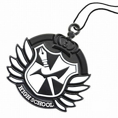 1X Dangan Ronpa High School Badge Pendant Necklace Anime Cosplay w String