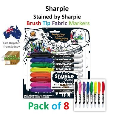 Sharpie Stained permanent Fabric Marker pen pack Laundry Cloth paint Linen Set