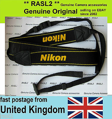 Genuine Original Nikon Neck Shoulder Strap D40 x D50 D60 D70 s D80 D90 D100 D200