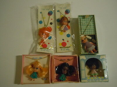 Super Rare Varieties Of 6 Kiddle Klone Necklaces Dolls : African American Dolls