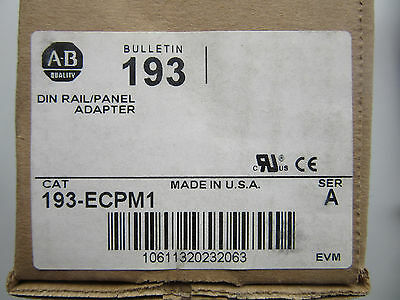 Allen Bradley 193-ECPM1 Din Rail Panel Adapter NEW!!! in Box Free Shipping
