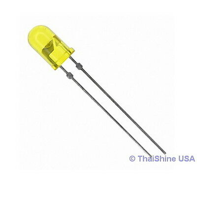 50 x LED 5mm Yellow - USA SELLER - Free Shipping