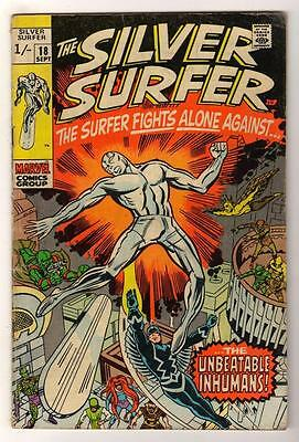 MARVEL Comics SILVER SURFER  Issue #18 Inhumans Fantastic four VG- 1970