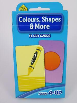 Colours, Shapes & More Flash Cards Ages 4-Up Early Learning - Hinkler 77827*