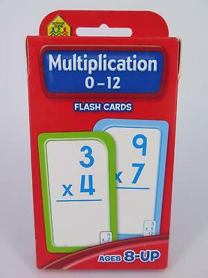 Multiplication 0-12 Flash Cards Ages 8-Up Early Learning - Hinkler 77814*