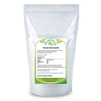 XYLITOL 1kg 1,8kg, 3kg Natural Alternative to Sugar from WELLNESSTORE.UK FreeP&P