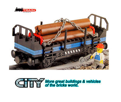 City Train Series 635 Timber Car building toys all new no box.