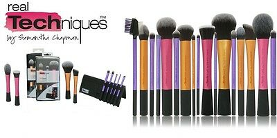REAL TECHNIQUES Makeup Brushes Core Collection Eyes Starter Expert Instapop Face