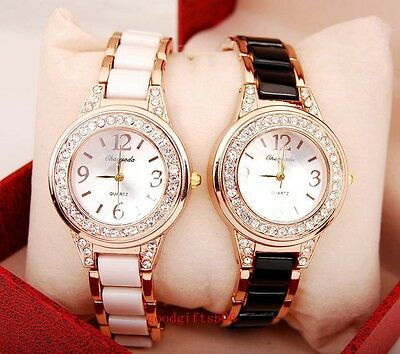 New 10pcs Luxury Fashion Crystal girls ladies Rose gold Wrist watches gifts SW5