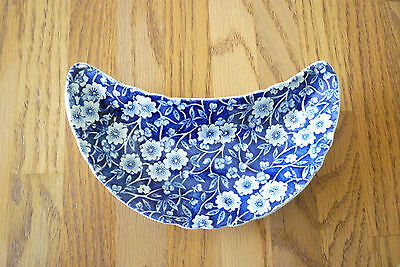 Crownford China Crescent Plate - Calico Blue