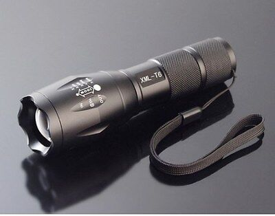 CREE XM-L T6 LED 1800Lm 10W Zoomable Zoom Torch Flashlight 5 Mode Light Lamp #18
