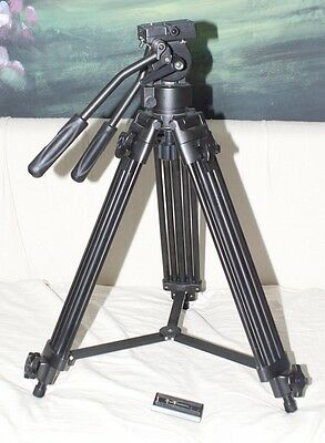 Heavy Duty Video Tripod w/Drag Head and 2 quick release plates