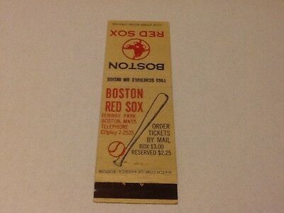 1965 BOSTON RED SOX MATCHBOOK COVER WITH SCHEDULE ON THE INSIDE FOR 1965 SEASON