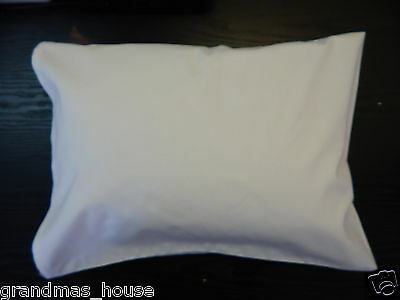 Child Toddler Cot Pillowcase Crisp White 100% Cotton - Other Colours Available