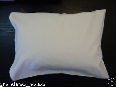 Cot Pillowcase White 100% Cotton Toddler Size Other Colours Available