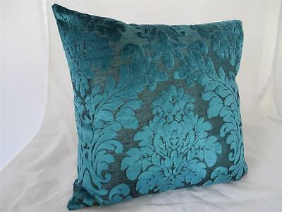 Turquoise Acanthus Classic Velvet Home Decor Cushion Cover Pillow Case~ 45cm