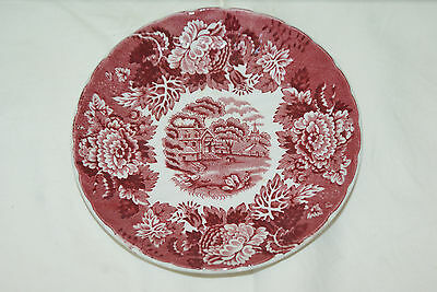 Wood & Sons English Scenery Woods Ware Red Saucer L#684