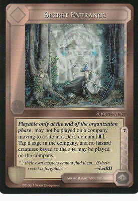 Secret Entrance Middle Earth The Wizards CCG lim. Ed. Mint/N.Mint 1995 ME25