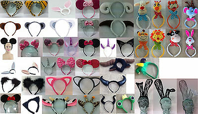 Headband ears and horns - for animals and characters. Easy dress up!