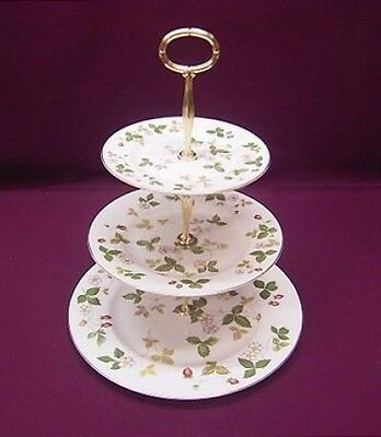 Wedgwood Wild Strawberry 3 Tier Cake Stand - New/unused