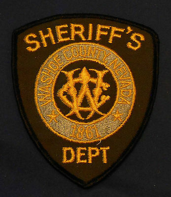 Washoe County, Nevada Sheriff's Dept. Police Shoulder Patch (invp3803)