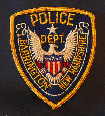 Barrington, New Hampshire Police Shoulder Patch (invp3913)