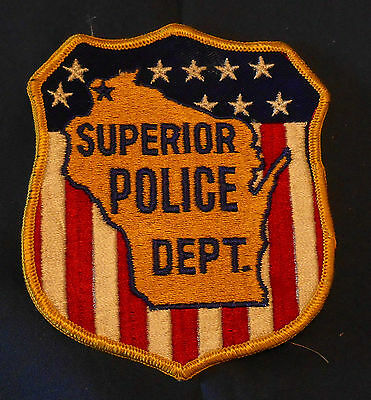 Superior, Wisconsin Police Shoulder Patch (invp4450)