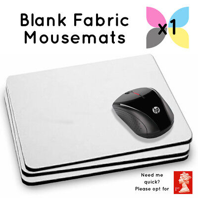 1 Blank White Printable Fabric Mouse Mat For Sublimation Printing Wholesale