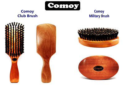 Comoy - Men's Traditional Hair Brush - Men's Club Brush and Men's Military Brush