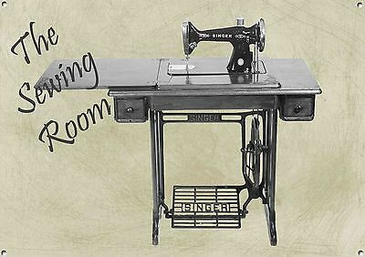 The Sewing Room,Vintage, Retro,Collectable, Enamel,Metal Sign, No.496