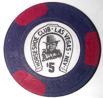 Binion's Horseshoe Casino Obsolete $5 Top Hat and Cane Mold Casino Chip