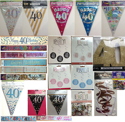 40th Birthday decorations - easy decoration for that special day!
