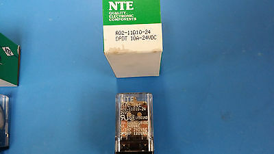 (1 Pc) R0211D10-24 Nte Power Relay Dpdt 24Vdc 10A Plug In