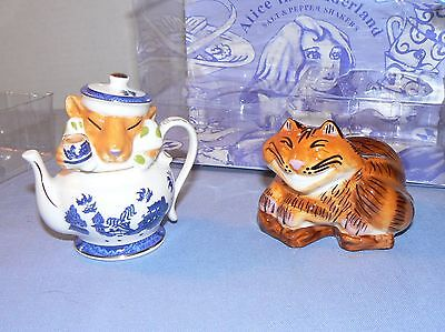 Alice in Wonderland Salt and Pepper Shakers Paul Cardew Cheshire Cat Dormouse