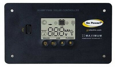 Go Power Gp-Pwm-30  12  Volt Digital 30 Amp Solar Charge Regulator New