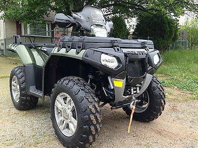 Polaris Sportsman  850 xp with EPS,with winch and quick connect plow hunter gren
