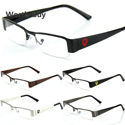 Mens Womens Clear Fake Lens Rectangular Eye Glasses Nerd Retro Fashion RX Frame