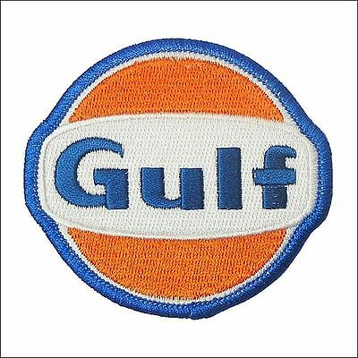 Gulf Oil USA Embroidered Oval Sew On Patch