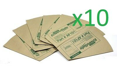 10x Genuine Pacvac Paper Dust Bags for Superpro700 Thrift650 DUB001/AF101/DUB019