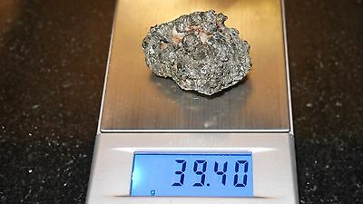 Weighs 39.G  PLATINUM NUGGET CRYSTAL  DUSTED WITH GOLD - VERY RARE  1532 mine co