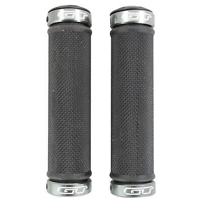 GT Bicycles Kraton Lock On Bike Grips - Open End 120mm + Bar End Caps MTB Hybrid